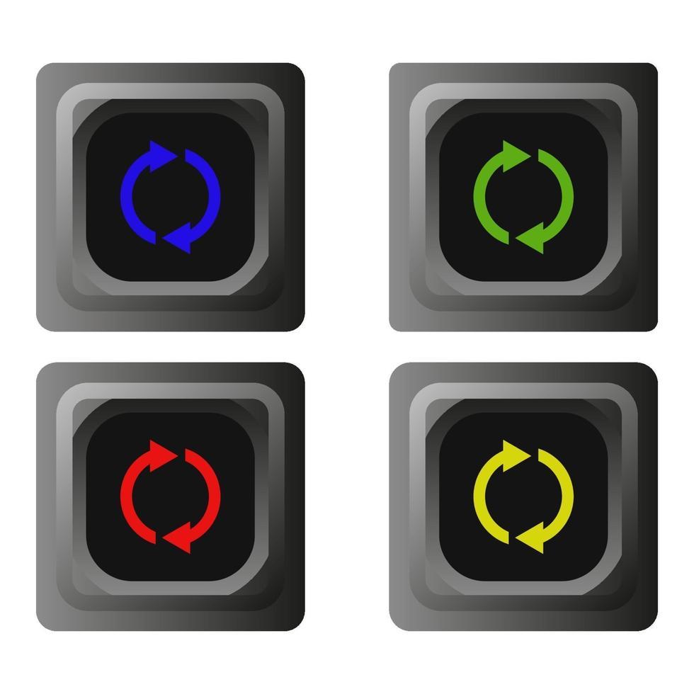ladda om knappen på vit bakgrund vektor