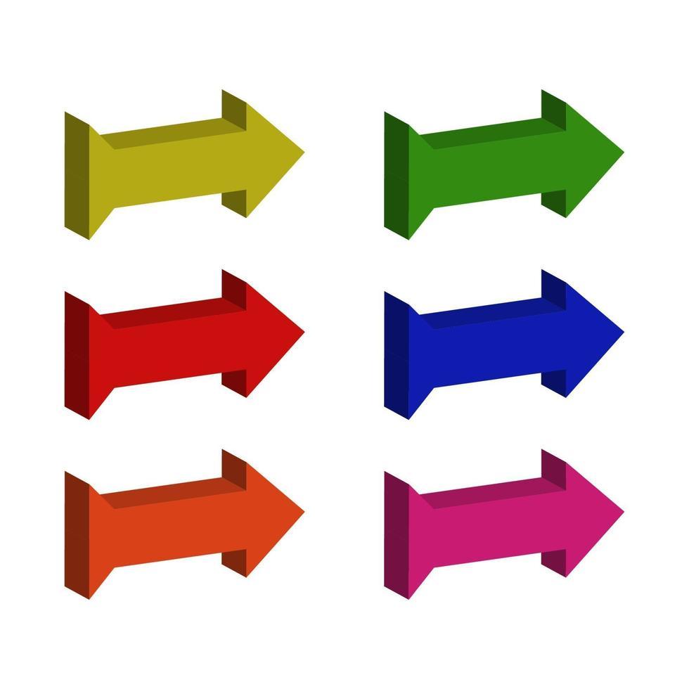 isometrischer Pfeilsatz vektor