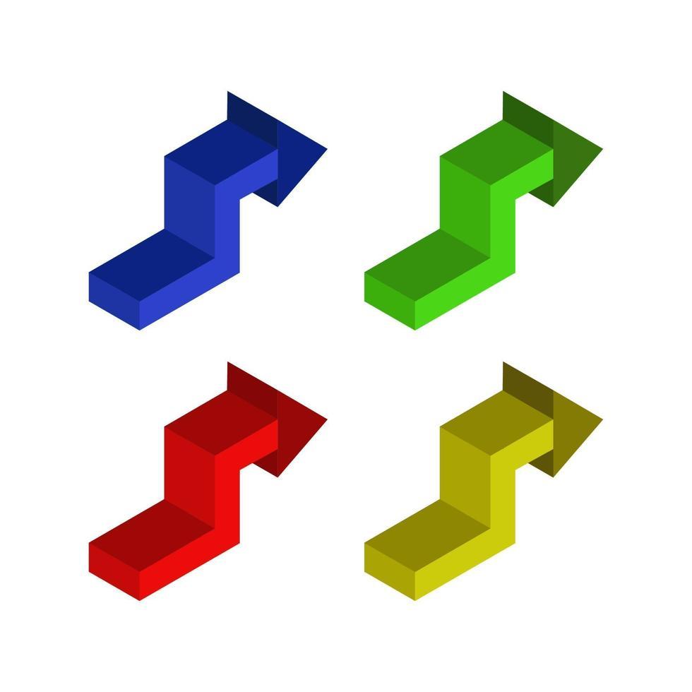 isometrische Pfeile gesetzt vektor