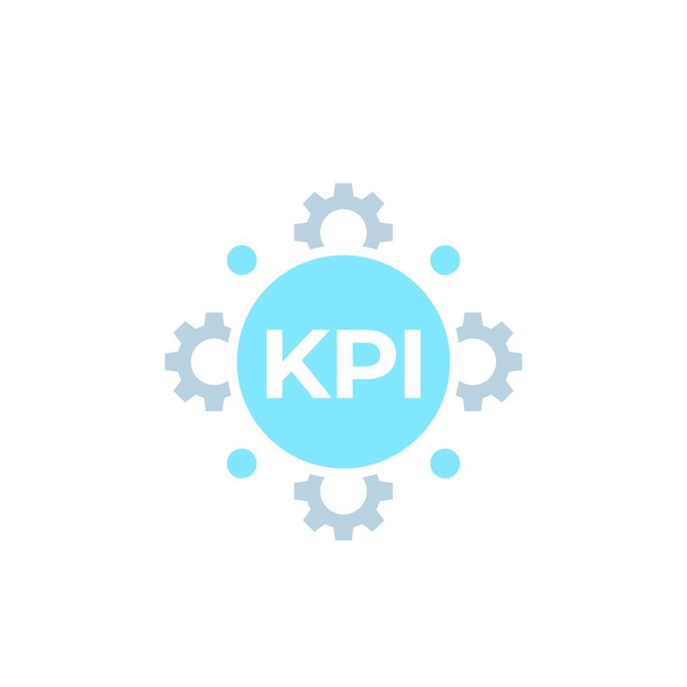 kpi Vektorsymbol auf white.eps vektor