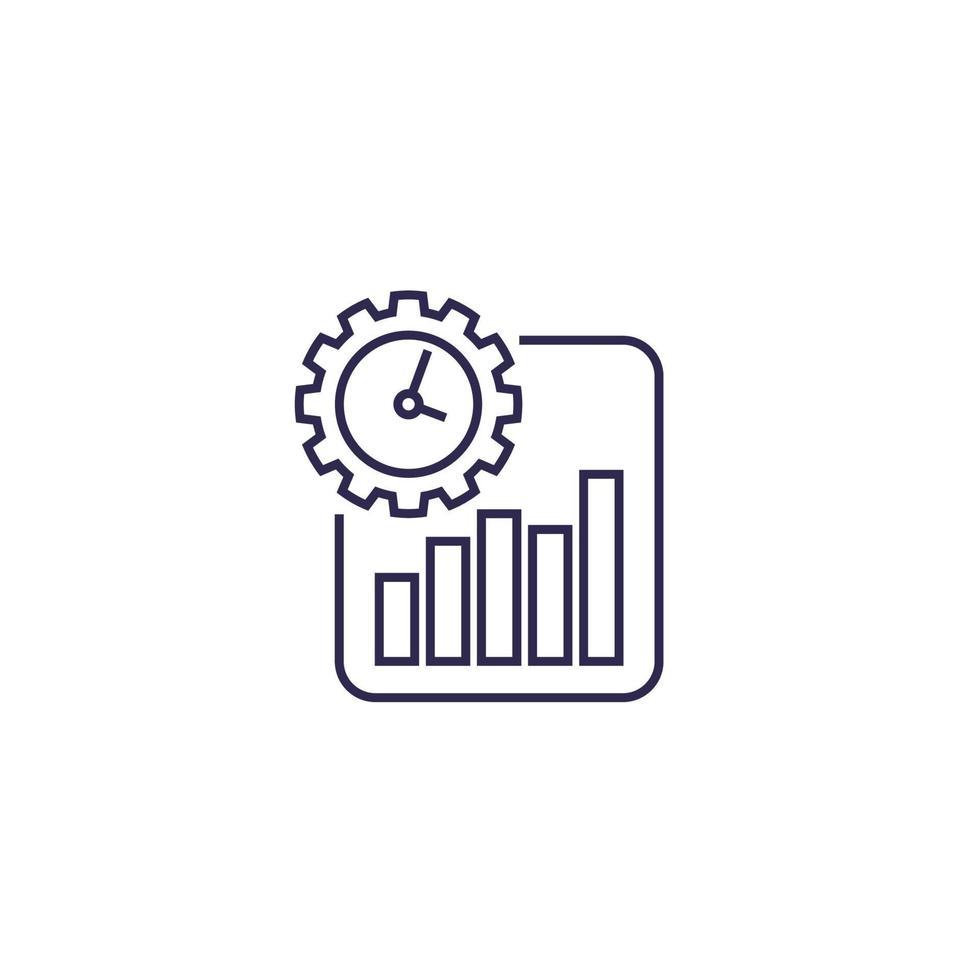 Symbol für das Wachstum der Arbeitsproduktivität, line vector.eps vektor