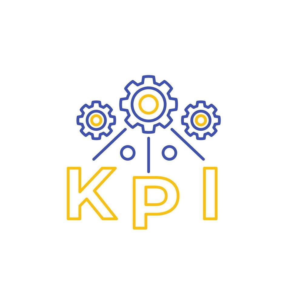 kpi Vektorliniensymbol isoliert auf white.eps vektor