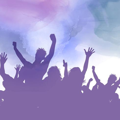 Party Menge auf einem Aquarell Hintergrund vektor