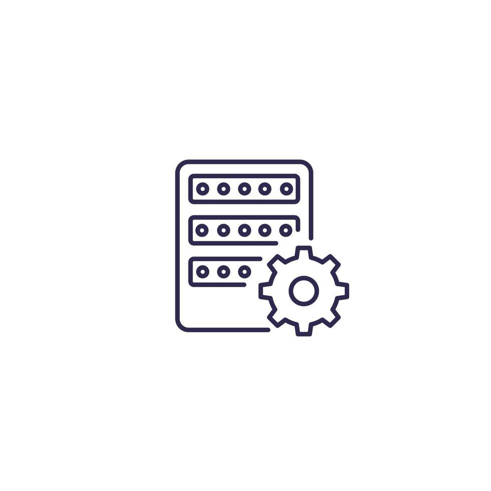 Mainframe, Servereinstellungen, Zeilensymbol.eps vektor