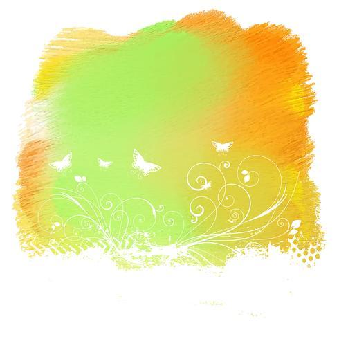 Blomgrunge på målade konsistens vektor