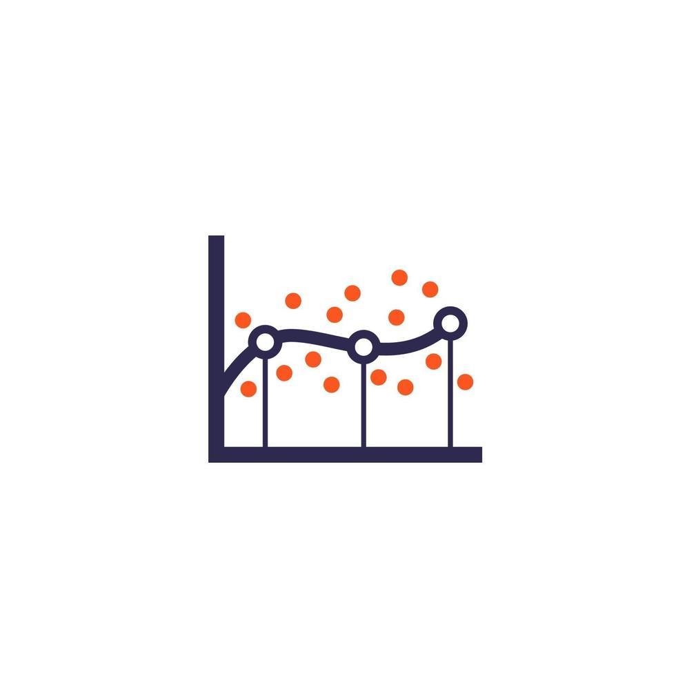 Regressionsanalyse-Symbol auf white.eps vektor