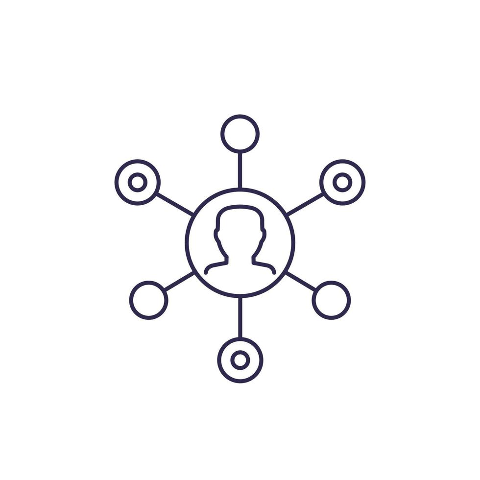 affiliate marketing vektor ikon, line.eps