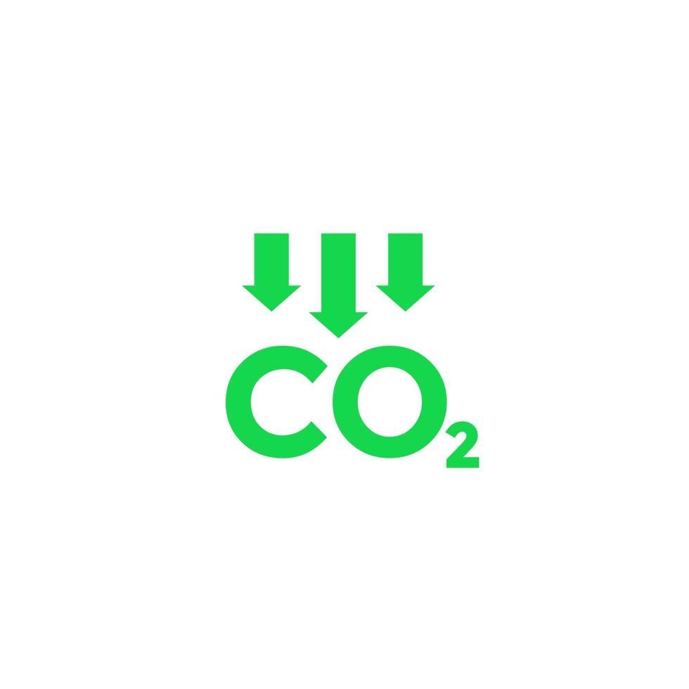 CO2-Emissionen reduzieren, vector icon.eps