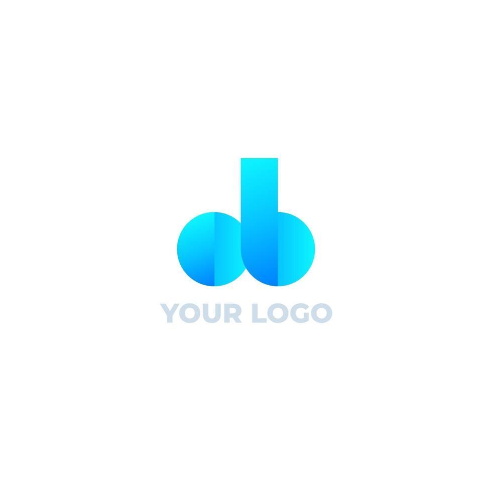 ob bokstäver vektor logo design. eps