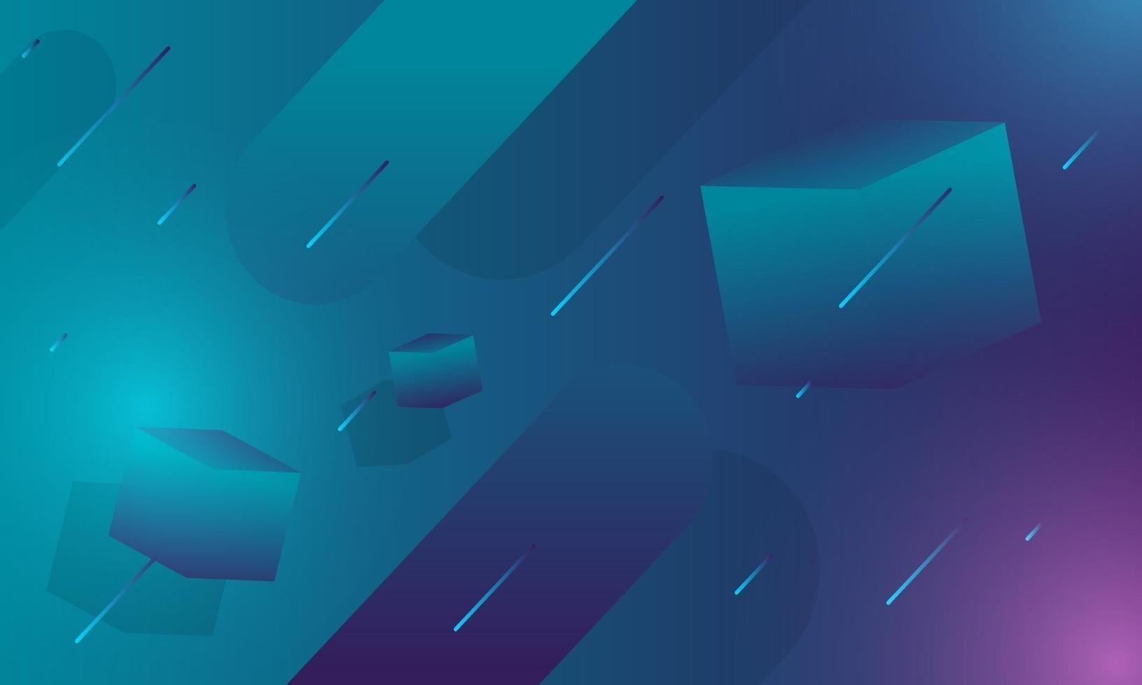 abstrakter geometrischer Gradientenhintergrund vektor