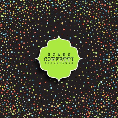 Sterne Konfetti Hintergrund vektor