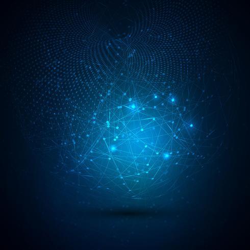 Sammanfattning global tech bakgrund vektor