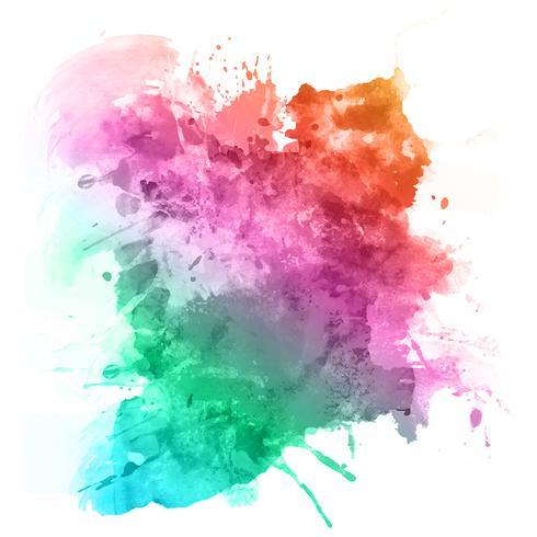Akvarell splat vektor