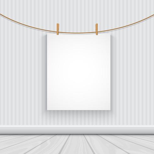Leeres Bild in einem Raum hängen vektor