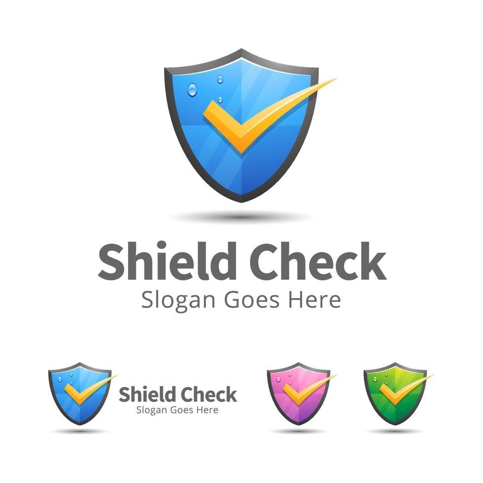 moderne Schild Logo Design Vorlage vektor