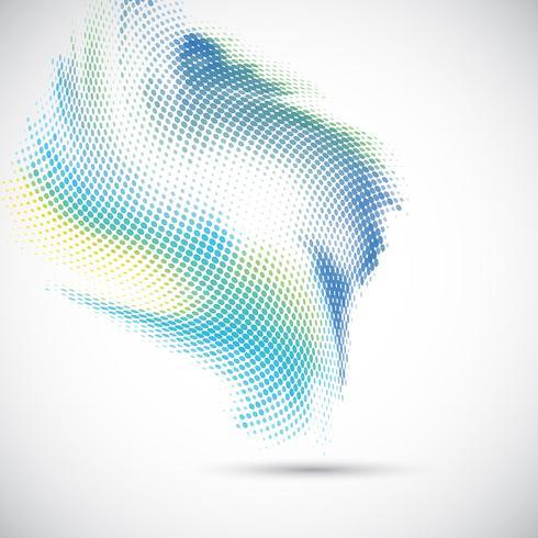 Abstraktes Halbtonpunktdesign vektor