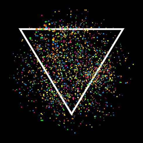 Abstrakter Konfettihintergrund vektor