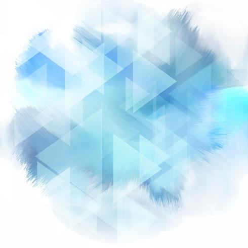 Low Poly Design auf Aquarell Textur vektor