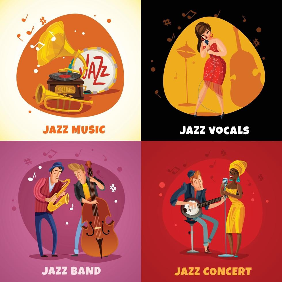 jazzmusik designkoncept vektor