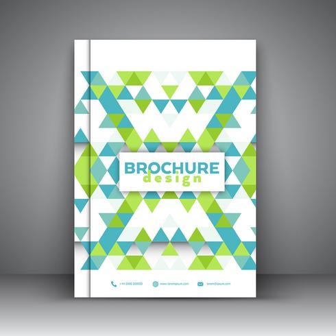 Låg poly broschyrdesign vektor