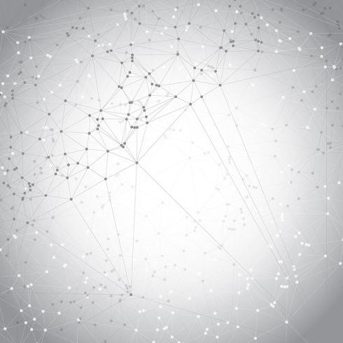 Låg poly design med anslutande prickar vektor