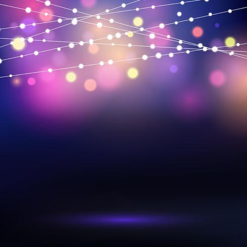 Dekorative Lichterketten vektor
