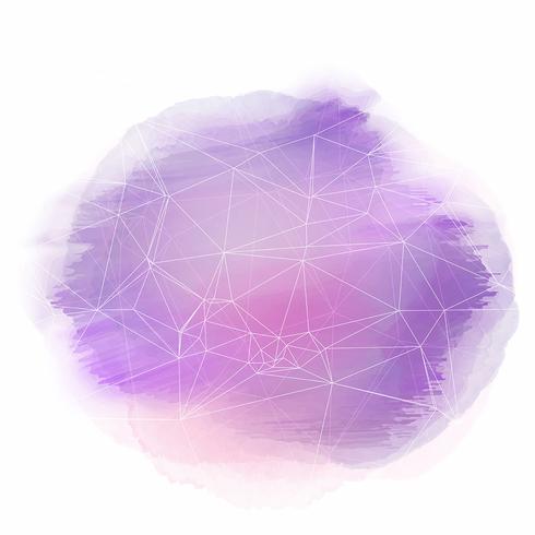 Aquarellhintergrund mit abstrakter Auslegung vektor