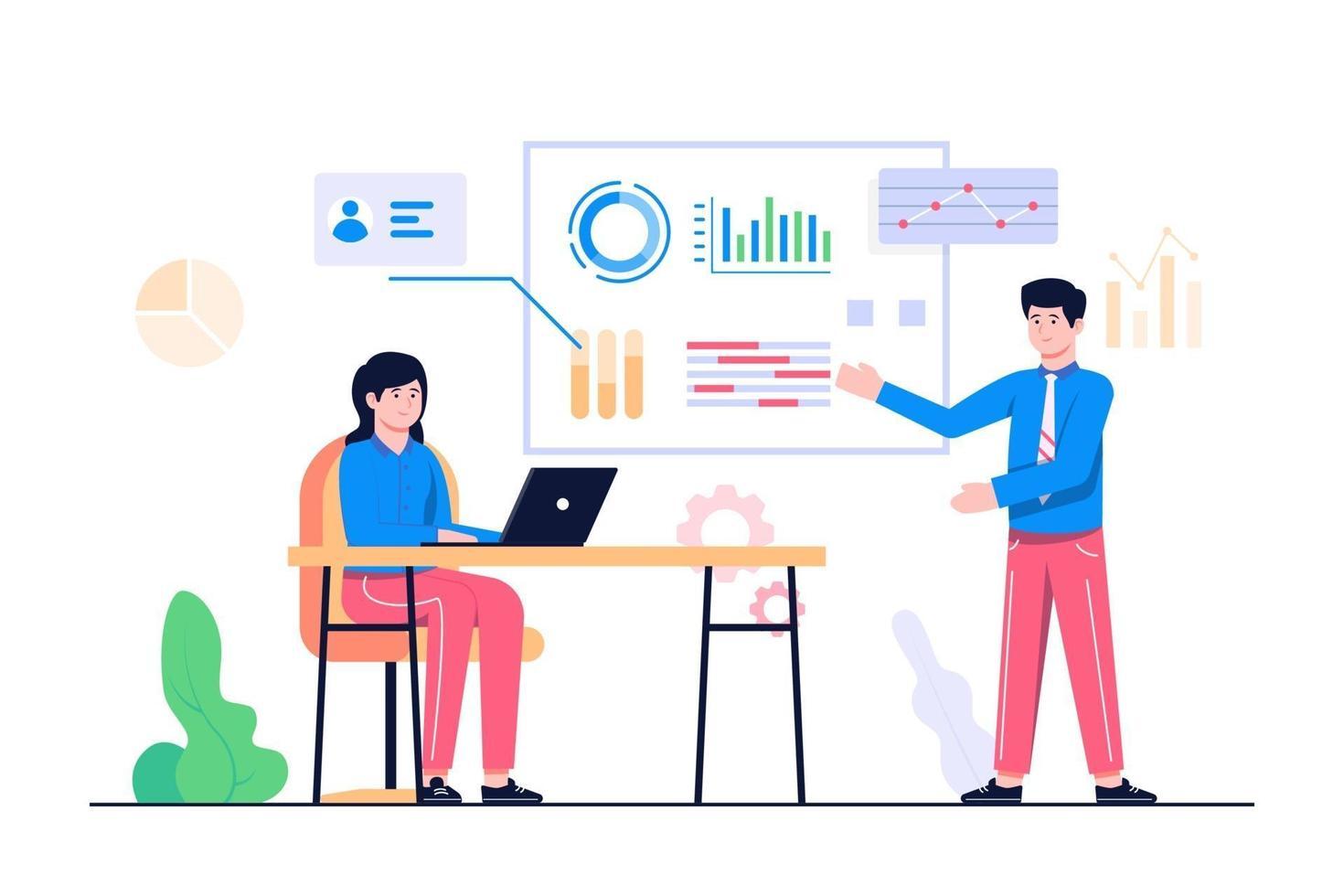 affärsanalys koncept illustration vektor