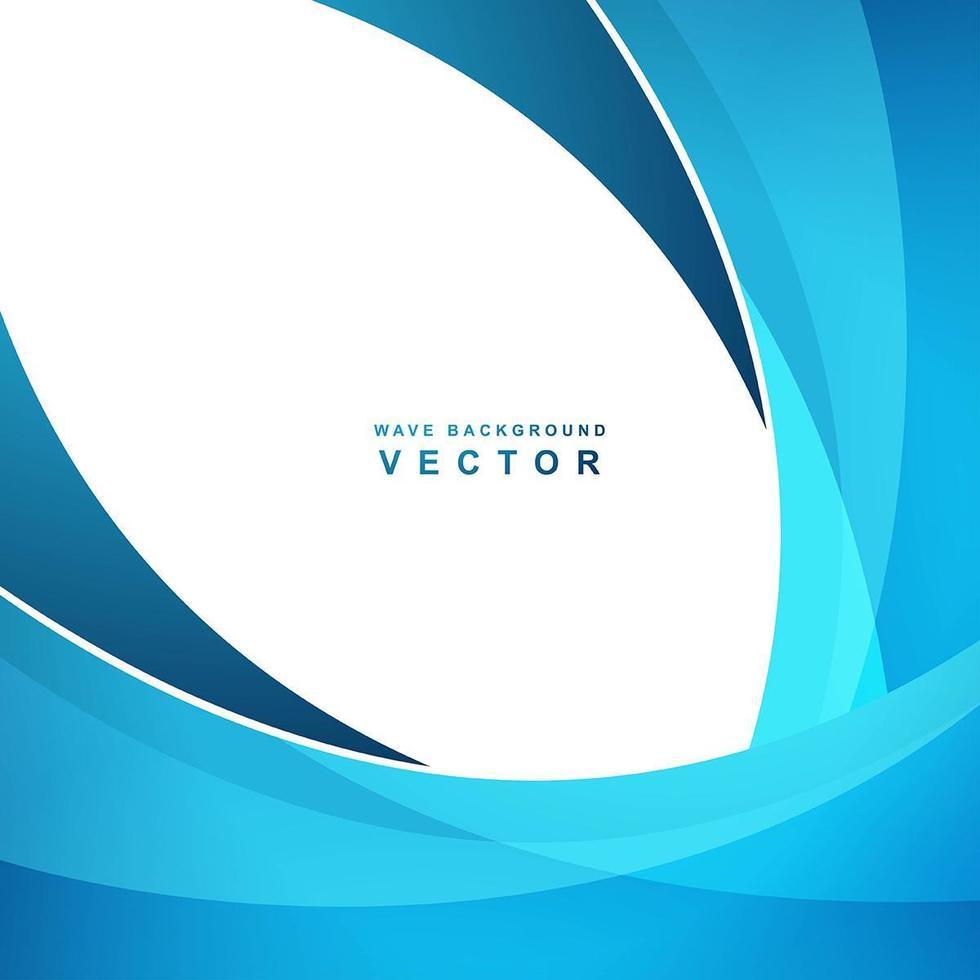 eleganter kreativer blauer Wellenvektor vektor