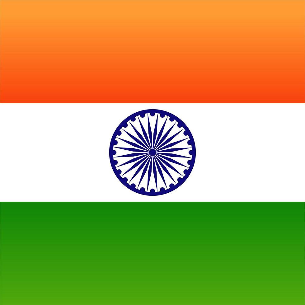 abstrakte Farbe Hintergrund indische Flagge Design vektor