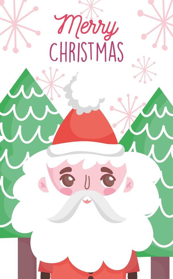 Frohe Weihnachten Plakat mit glücklichen Weihnachtsmann vektor