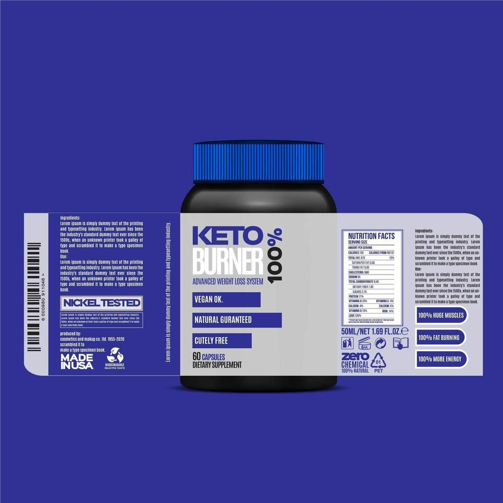 Flaschenetikett Design, Verpackung Design Vorlage, Etikett Design, Modell Design Label kostenlose Vektor-Vorlage vektor