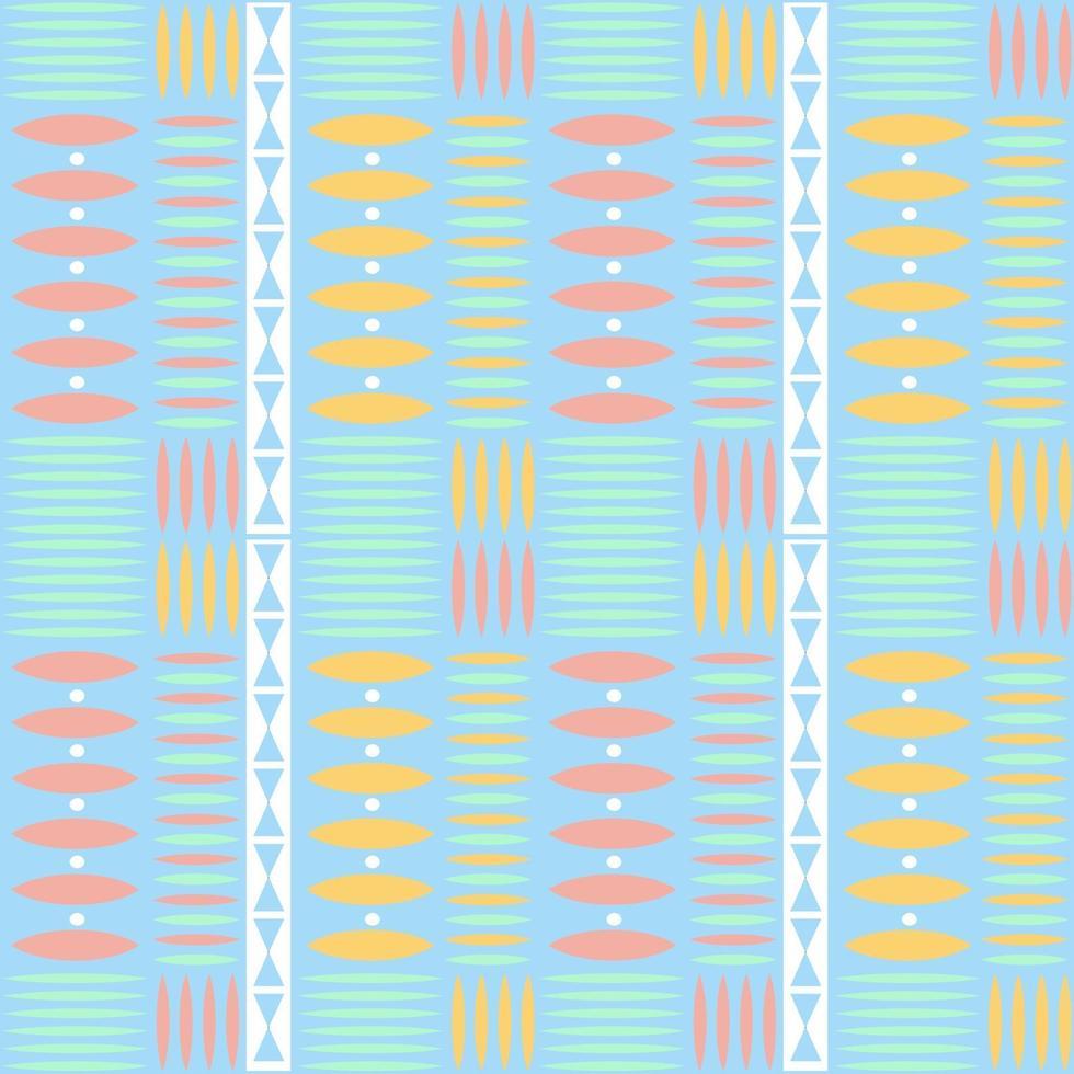 nahtloser mehrfarbiger nativer Musterhintergrund mit geometrischer Form vektor
