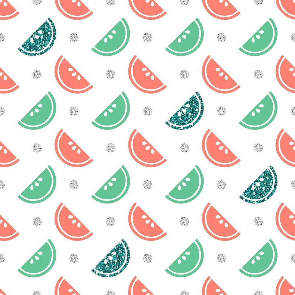 nahtloser mehrfarbiger und glitzernder Fruchtmusterhintergrund vektor