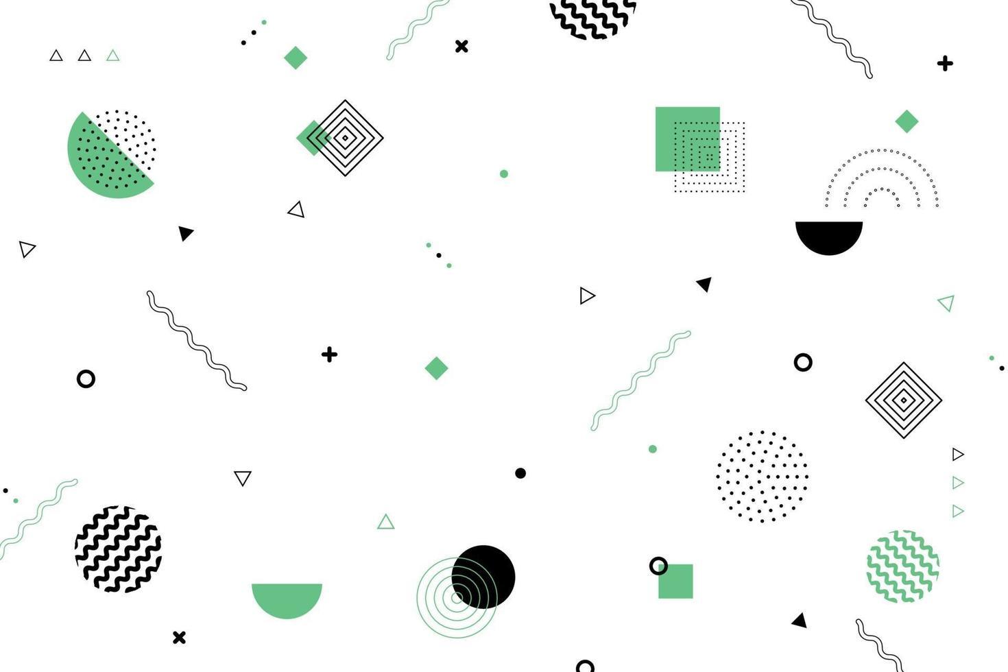 abstraktes minimales geometrisches Musterdesign des schwarzen und grünen dekorativen Designhintergrunds. Illustrationsvektor vektor