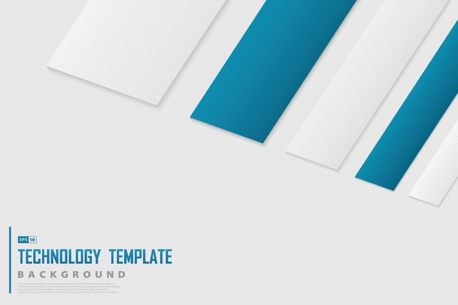 Zusammenfassung des technischen blauen und weißen Farbdesign-Dekorationstechnologiehintergrunds. Illustrationsvektor vektor