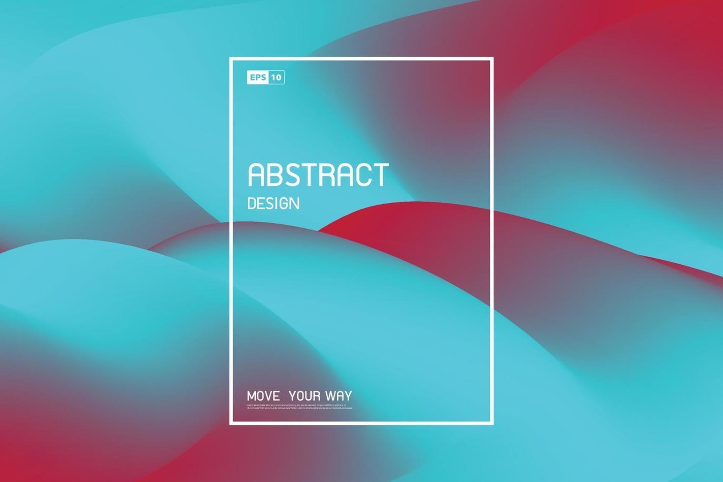 abstraktes fließendes Netzdesign des hellen blauen und roten Dekorationsabdeckungshintergrunds. Illustrationsvektor vektor