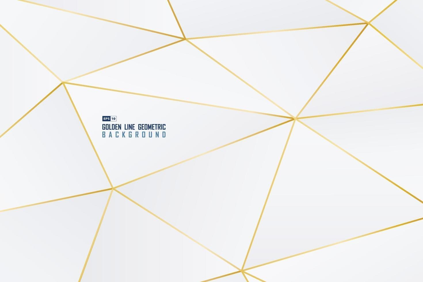 abstrakte goldene Linie dekorativ von geometrischer Form mit weißem Hintergrund des Farbverlaufs. Illustrationsvektor vektor