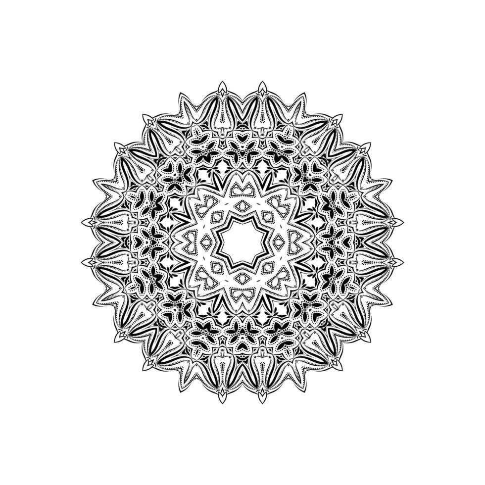 dekorativer mandala design isolierter hintergrund vektor