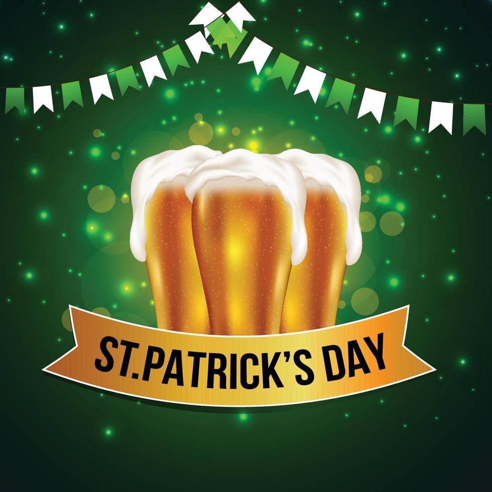 st. Patrick's Day pints öl vektor