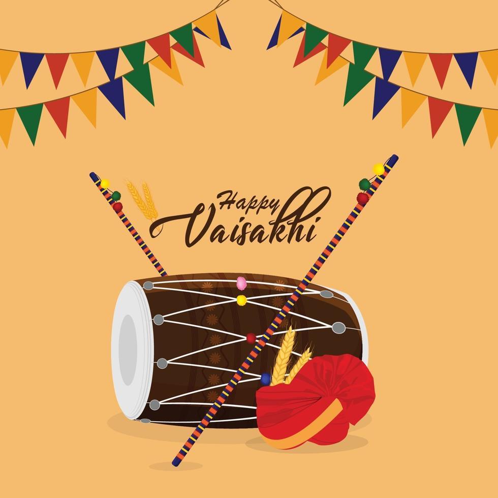 glückliche vaisakhi sikh Festivalillustrationsfeier vektor