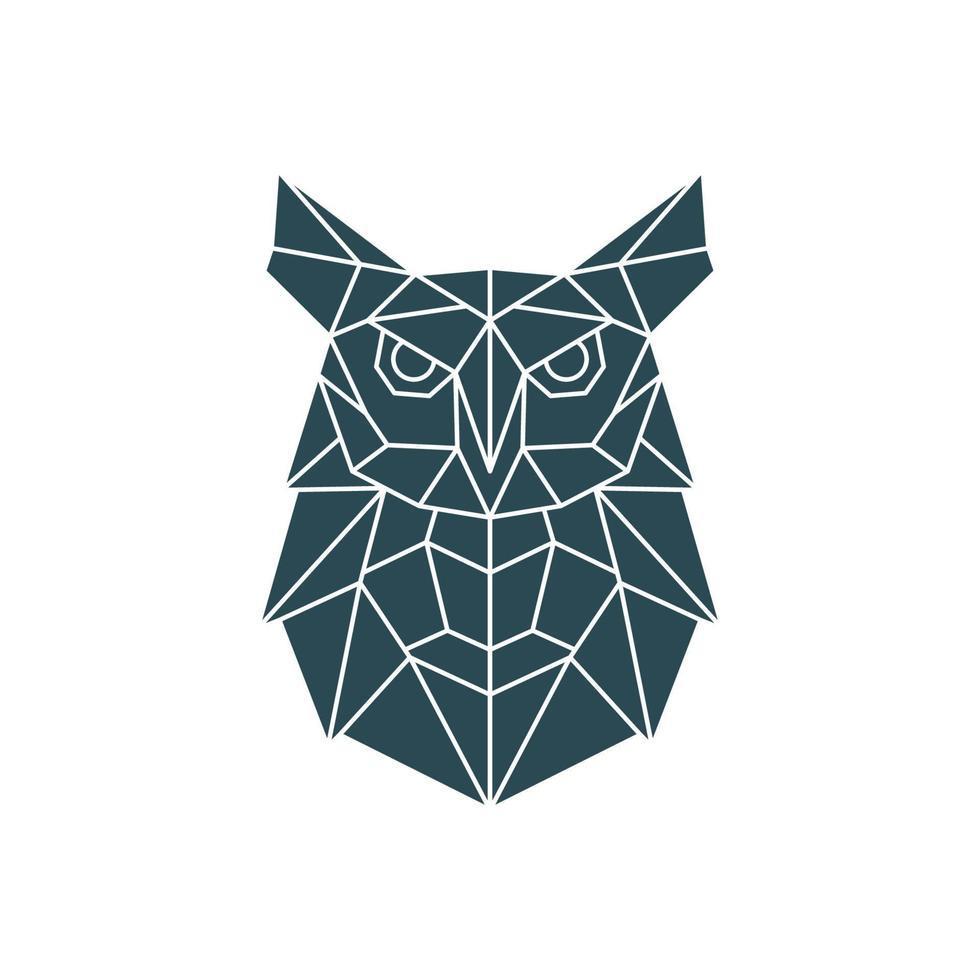 polygonale Eulenillustration. geometrisches Muster mit wildem Vogel. vektor