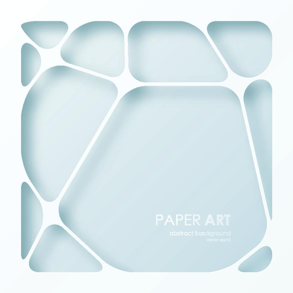 abstrakter Hintergrund der Papierkunst. Vektorillustration. vektor