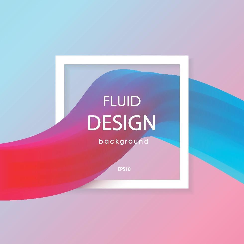 abstrakta 3d flytande färgglada former. flytande färgvägar. modern visuell kommunikation affisch design. vektor