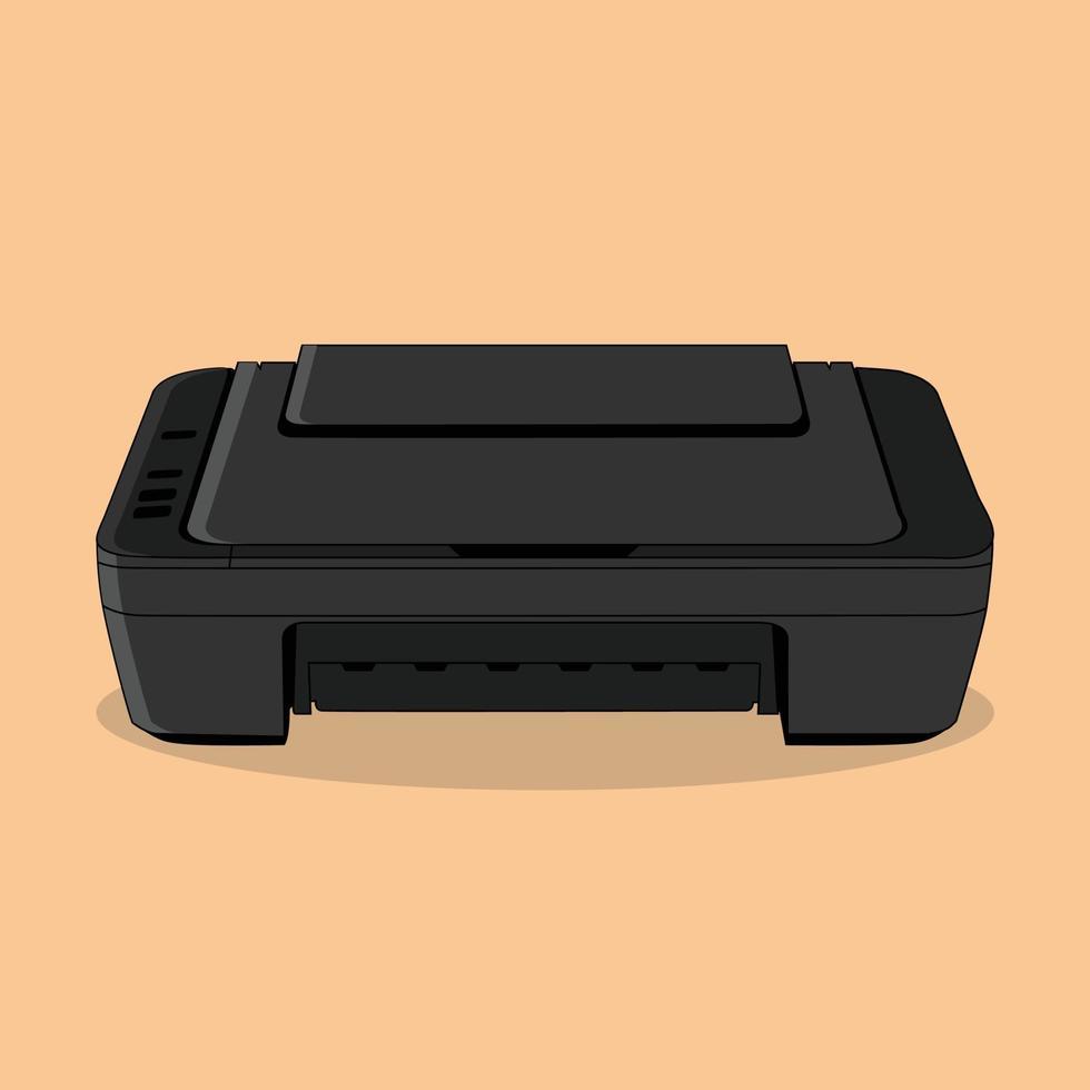 Vektordrucker, perfekt für Büro vektor