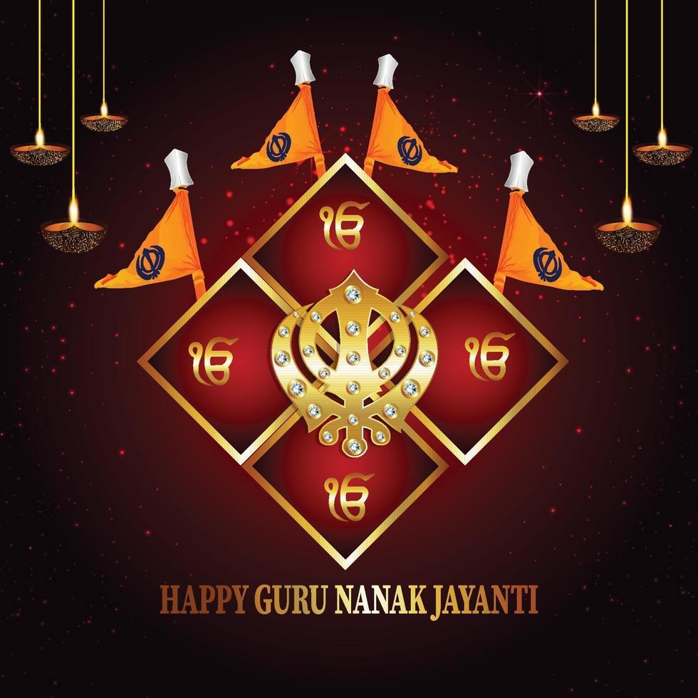 glücklicher Guru Nanak Jayanti Banner oder Header vektor