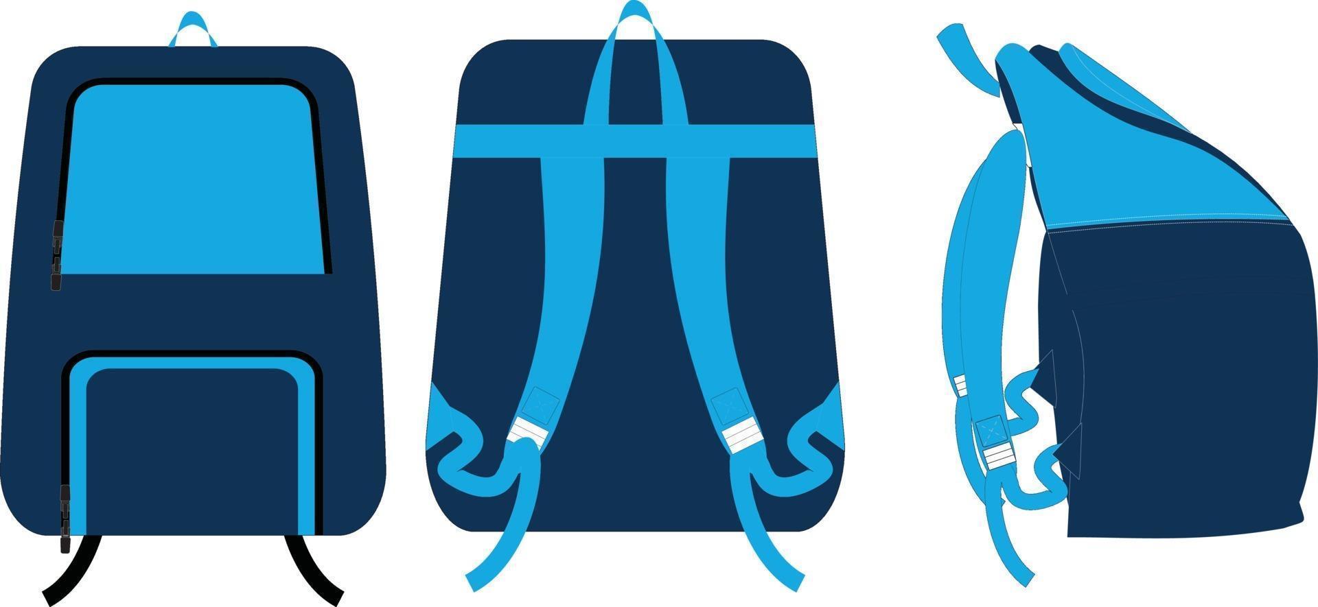 Sportrucksäcke Taschen Illustrationen Mock-Ups vektor