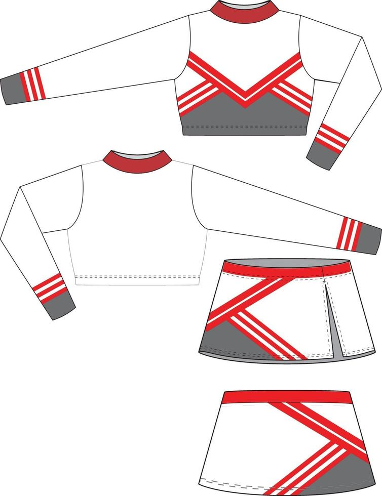 cheer uniform mock ups mallar sublimerade vektor