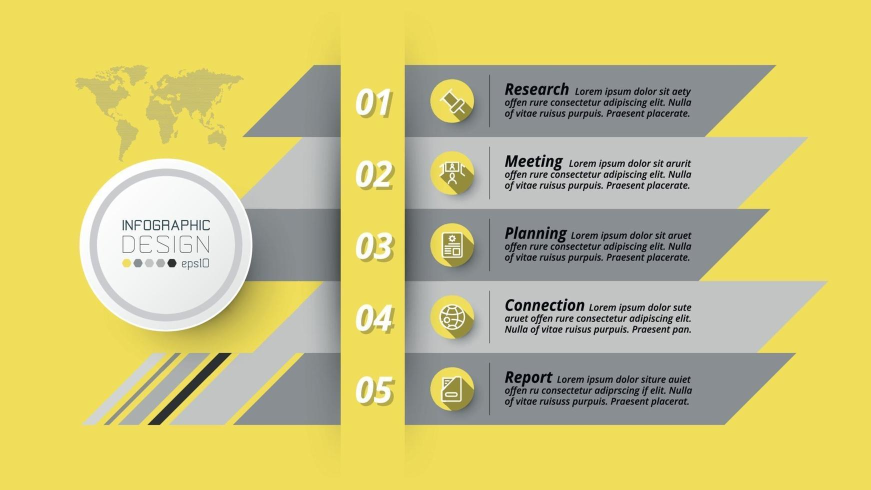 Planung, Präsentationen und Berichte in der Analyse oder Datenrecherche gelten für Business, Marketing, Bildung, Vektor und Infografik