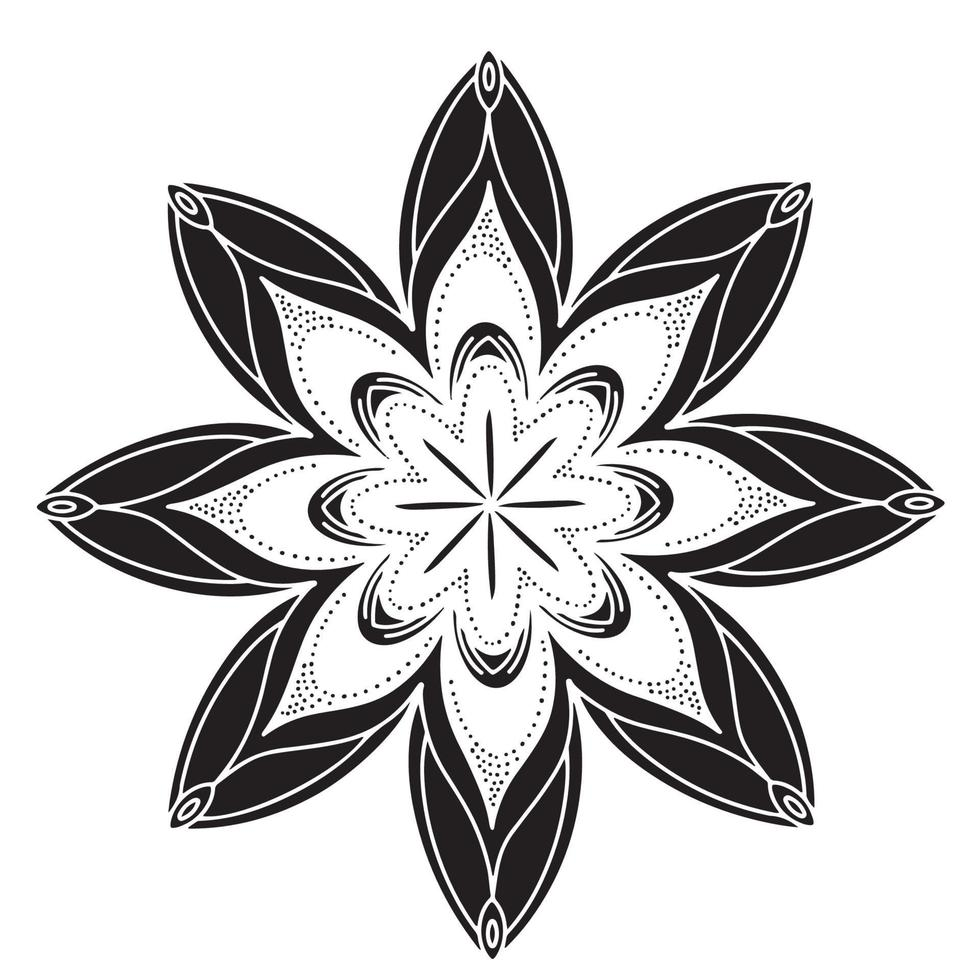 Mandala Hintergrund Premium Vektor